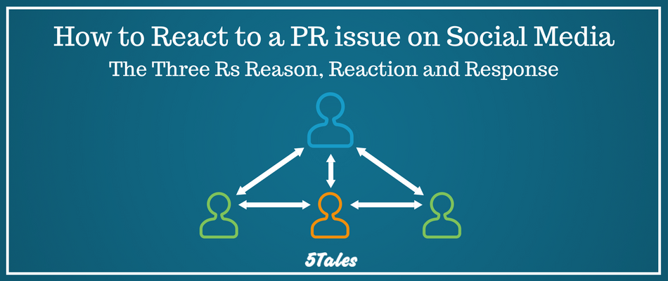 How to React to a PR Issue on Social Media: The 3 Rs Reason, Reaction and Response
